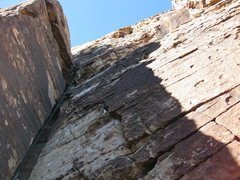 Rock Climbing Photo: Gary has led off on the classic pitch two. Looking...