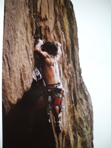 Rock Climbing Photo: BH on 2nd ascent of Sheer Terror.