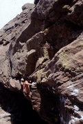 Rock Climbing Photo: BH barefoot bouldering on Horangutan