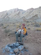 Rock Climbing Photo: Scot Carson greeted back at camp by Jack Russells ...