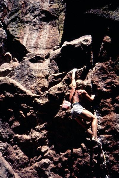 Skip Guerin sending Polygap barefoot. Photo: Bob Horan collection.