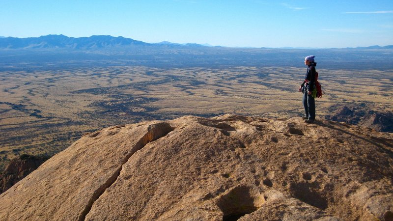 Rock Climbing Photo: Magnificent views on the top of the Sheepshead