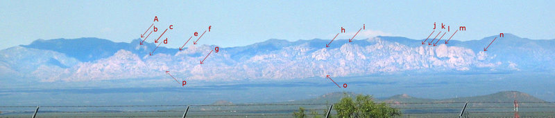 Rock Climbing Photo: Cochise Stronghold as seen from Ft. Huachuca.