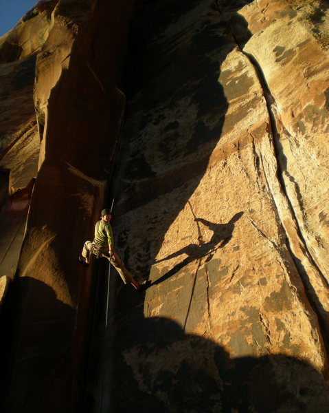 Evening light rappell