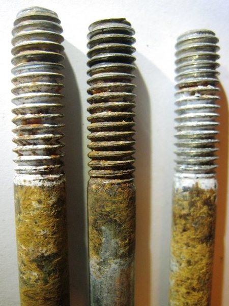 Rock Climbing Photo: Close up of bolts pulled in AF on Division Wall.  ...