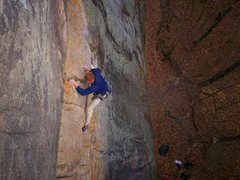 Rock Climbing Photo: I climb you and do splits at same time.