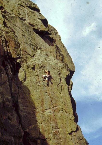 Rock Climbing Photo: Bob Horan on 1st, trad ascent of Hands of Destiny.