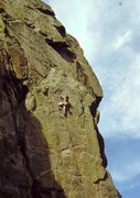 Rock Climbing Photo: Bob Horan on 1st, trad ascent of Hands of Destiny.