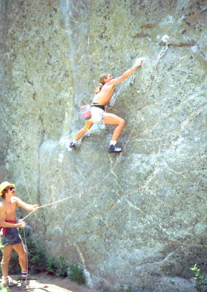 Rock Climbing Photo: Skip Guerin and Chip Ruckgaber on 1st ascent of Th...