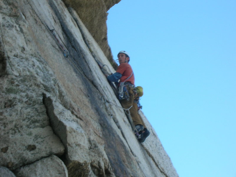 Brandon on some high exposure on CCK at the Gunks!!