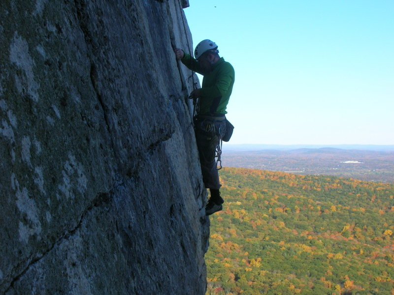 Brandon (really this time) high exposure, with some beautiful Gunks foliage in the back...