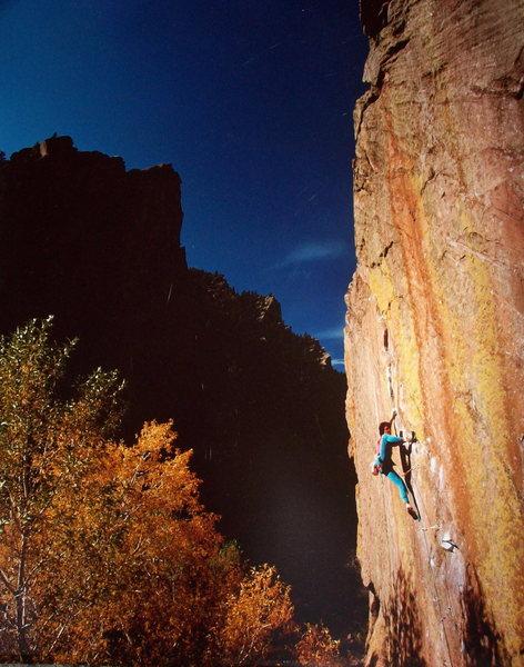 Rock Climbing Photo: BH on the World Class Rainbow Wall, Eldorado Canyo...