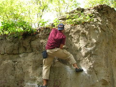 Rock Climbing Photo: me at the Glen!! I made the route, we'll call it &...