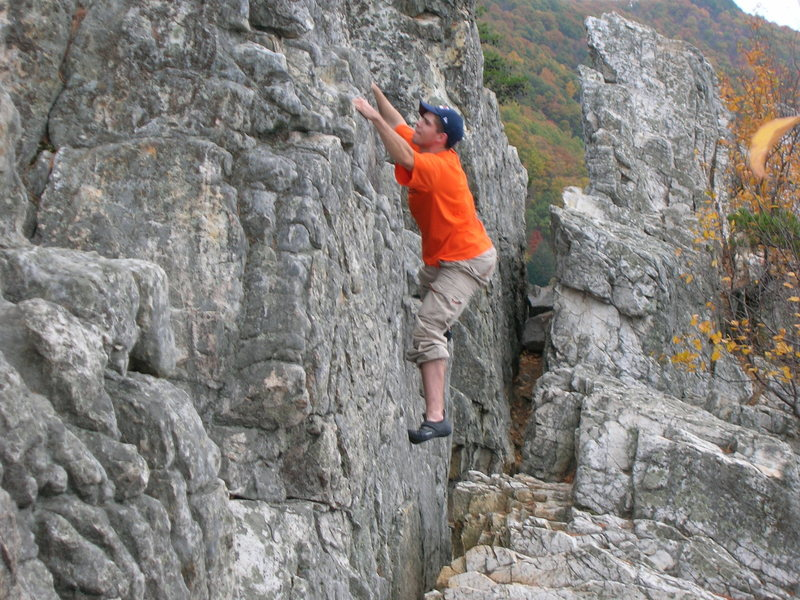 Rock Climbing Photo: there was a warning somewhere not to do this...lol...