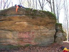 Rock Climbing Photo: Here lies a pretty cool traverse ending in a topou...