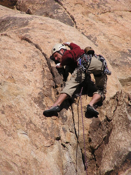 Rock Climbing Photo: Eric Deschamps leading a route in the Big Horn Mat...