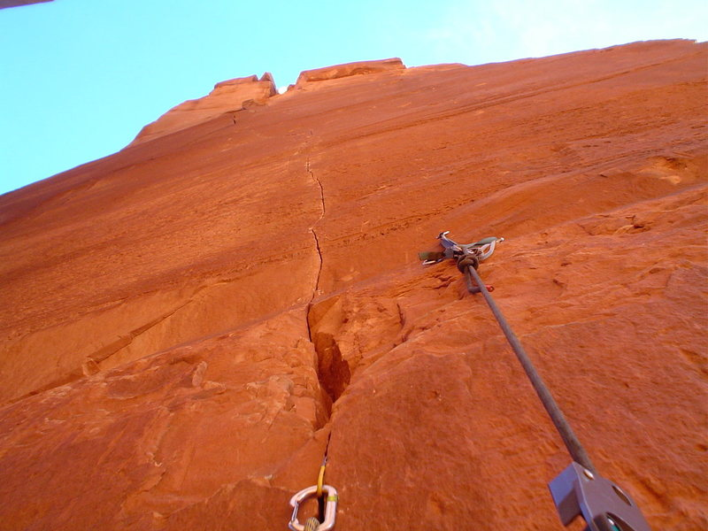 Rock Climbing Photo: Looking up the first pitch.
