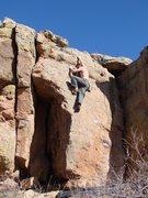 Rock Climbing Photo: Ian linking the Chain Reactor.