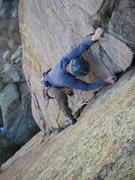 Rock Climbing Photo: Caterpillar corner from above.