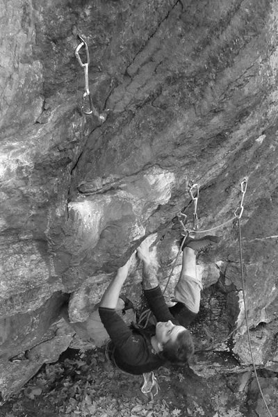 a shot of mike in the thick of the steep stuff...