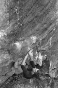 Rock Climbing Photo: a shot of mike in the thick of the steep stuff...