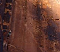 Rock Climbing Photo: Damien on Swedin-Ringle