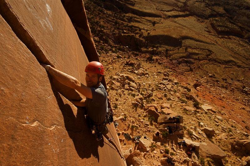 Rock Climbing Photo: Les on Blue Sun