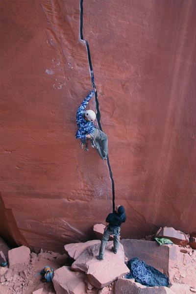Rock Climbing Photo: Me starting up Anunnaki