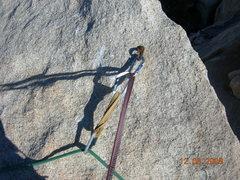 Rock Climbing Photo: Belay bolt December 2008.