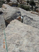 Rock Climbing Photo: Brandon cranking up Ballbearings Under Foot.