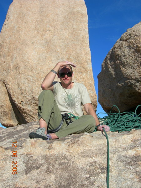 Rock Climbing Photo: Brandon sitting in front of Ballbearings Under Foo...