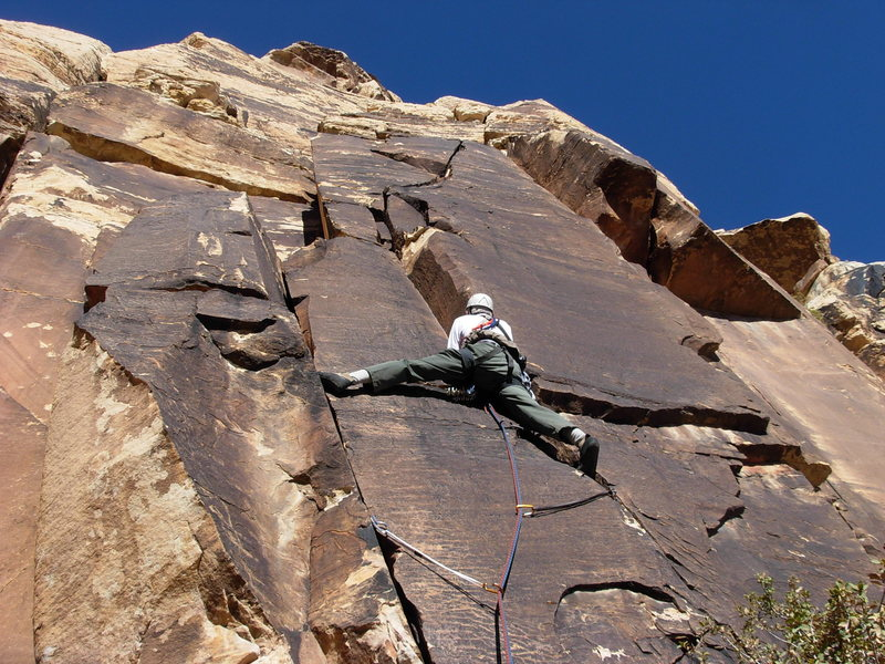 Rock Climbing Photo: Maurice Horn starting Byrd Pinnacle Left.