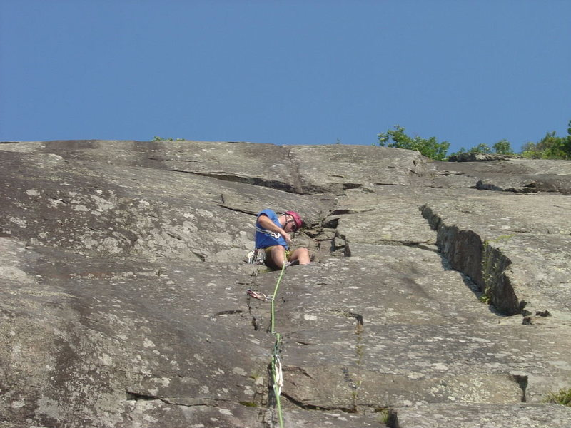 Rock Climbing Photo: catching a rest on little finger-slabs are hard on...