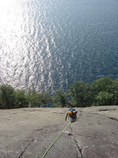 Rock Climbing Photo: following first pitch