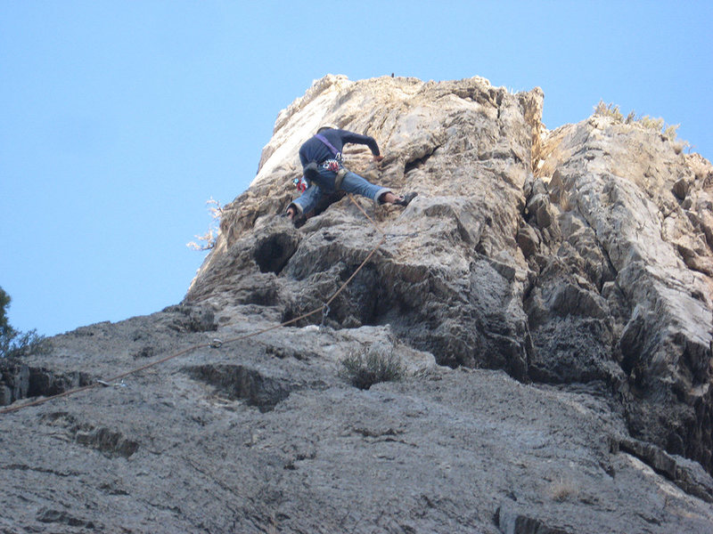 Rock Climbing Photo: Me on pitch 1.