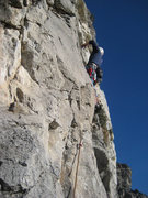 Rock Climbing Photo: Me getting started on pitch 5.