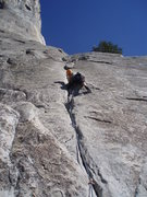 Rock Climbing Photo: photo of Pine Line from the base.