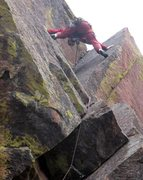 Rock Climbing Photo: Pure stemming, much to my dismay. Photo by Lenny M...
