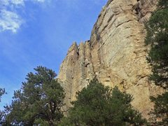 Rock Climbing Photo: Dave G. at the anchors on Crynoid Corner.  A very ...