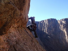 Rock Climbing Photo: alan looking for anyone else in the black canyon.....