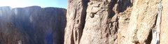 Rock Climbing Photo: my perch on checkerboard wall