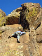 Rock Climbing Photo: Laura Pyle just moving into the crux moves on Feed...
