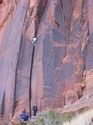 Rock Climbing Photo: Doug climbing.