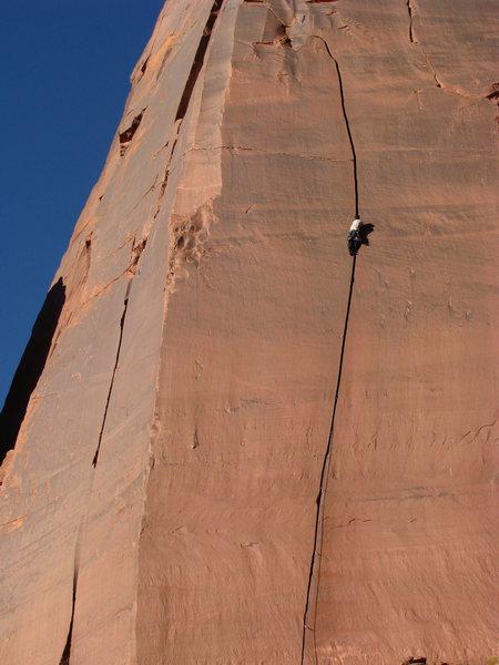 Matt H climbing Wiggins 1