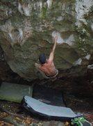"Rock Climbing Photo: Andrew on ""Triple Slaps"""