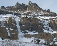 Rock Climbing Photo: Ice on backside of Timp.  (photo by Kempt).