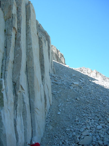 Rock Climbing Photo: Such a sweet climb. Too bad it doesn't go on for a...