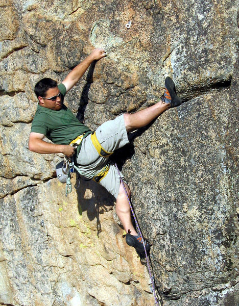 Rock Climbing Photo: Short but fun climb. Possible to put small cam in ...