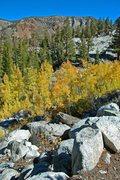 Rock Climbing Photo: Bishop Creek, fall 2008