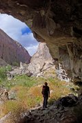 Rock Climbing Photo: Scoping the steeps at the Eldorado Roof  photo: Dy...